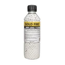 3000 billes airsoft blanches 0.25 en bouteille